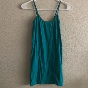 Light Blue Cami Tank Top Long